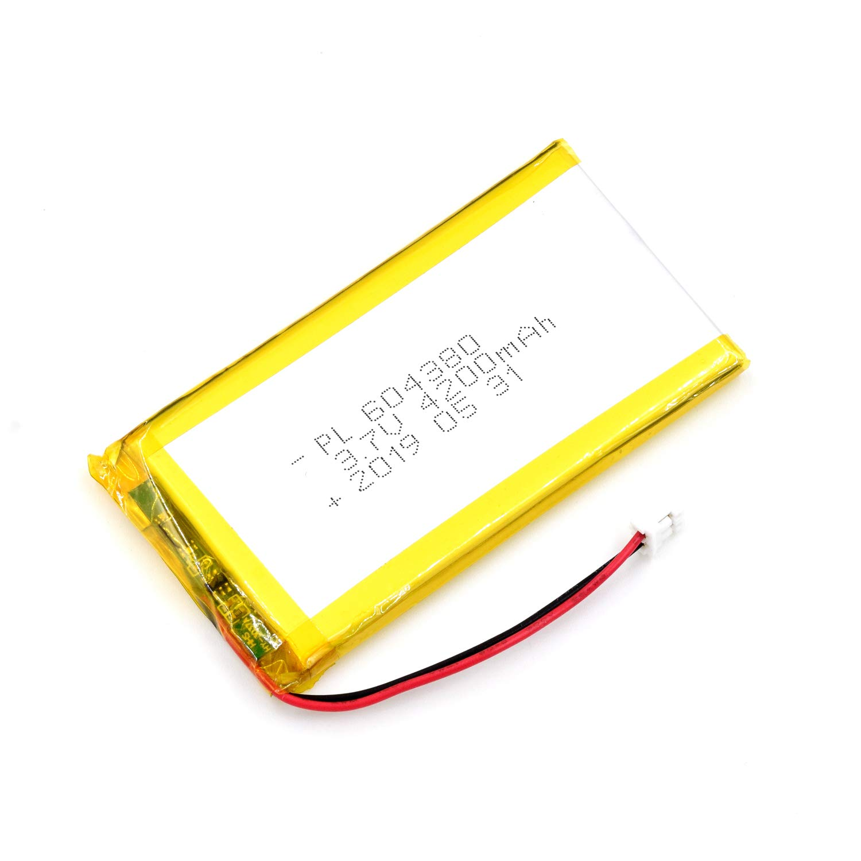 Bateria Lipo 3.7V 4200mAh 604380 Recargable JST Conector