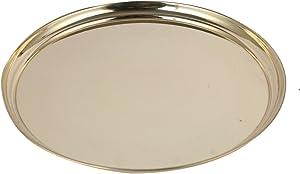 Aatm Brass Plate Utensil Best for Home & Office Decoration & Gift Purpose Handicraft (8 Inch)