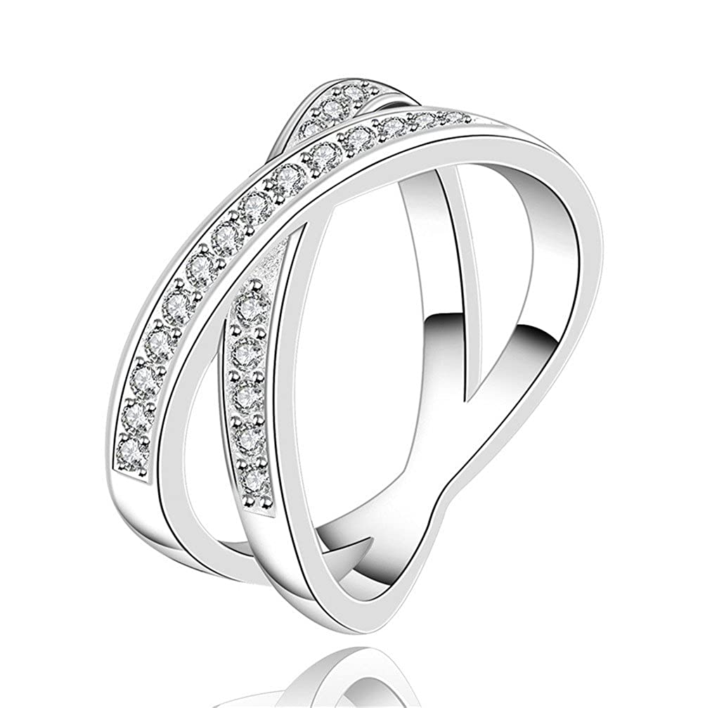 HMILYDYK Fashion Ring New Arrival 925 Sterling Silver plated Beautiful Crystal Diamond Rings Gift GUERPCR487