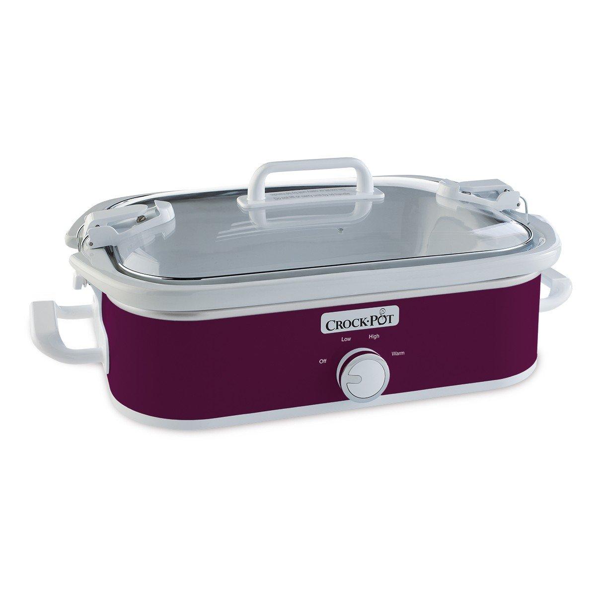 Crock-Pot 3.5-Quart Casserole Crock Manual Slow Cooker, Perfect Plum