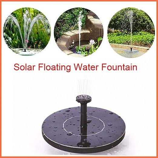 BEDDIANTAO Mini Fuente Solar Fuente De Agua Solar Jardín Estanque De Piscina Panel Solar Al Aire Libre Decoración De Jardín: Amazon.es: Jardín
