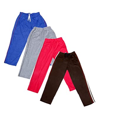 3f0c61384855d6 Indistar Boys Premium Cotton Full Length Lower/ Track Pant with 2 Open  Pocket(Pack