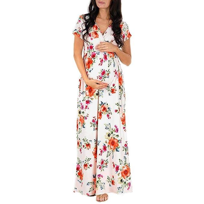 VECDY Premama Verano, Vestidos Casual Vestido De Embarazo De Enfermería De Las Mujeres Embarazadas Estampado