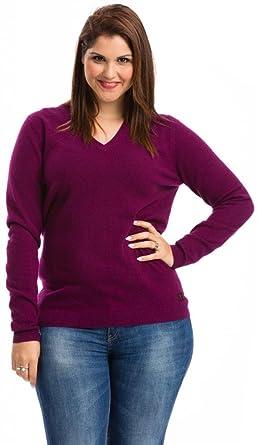 Citizen Cashmere Plus Size Cashmere Sweater Plum P41 100 16 14
