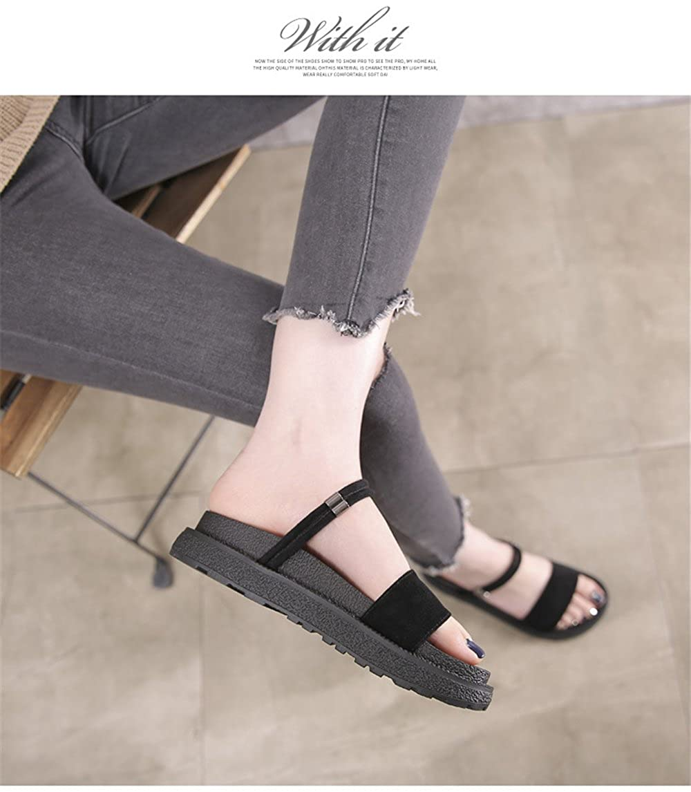 195af24fa834a7 Believed Believed Believed Summer Thick Sole Women Sandals Roma High ...