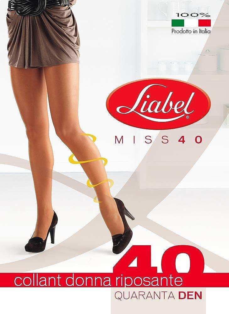 Liabel. 6 paia Collant riposanti elasticizzati 40 DENARI con tassello Linea MISS 40 articolo 4020