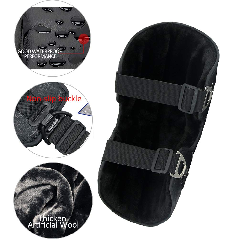 1 Pair Grost Koning Knee Pads Motorcycle Guard Gear Knee Guard PU Leather Waterproof Knee Protective for Motorcycle Mountain Biking Bicycle Windproof Coldproof Outdoor