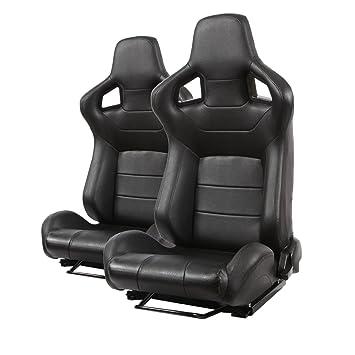 2 asientos deportivos para automóvil, estilo de carreras, de ...
