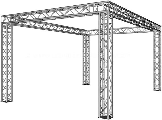 Feria Stand cerrado comocuadrada con 6 x 4 x 3 m de 4 puntos de ...