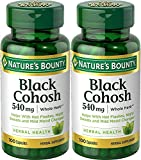 Nature's Bounty Natural Whole Herb Black Cohosh 540mg, 100 Capsules   (Pack of 2)