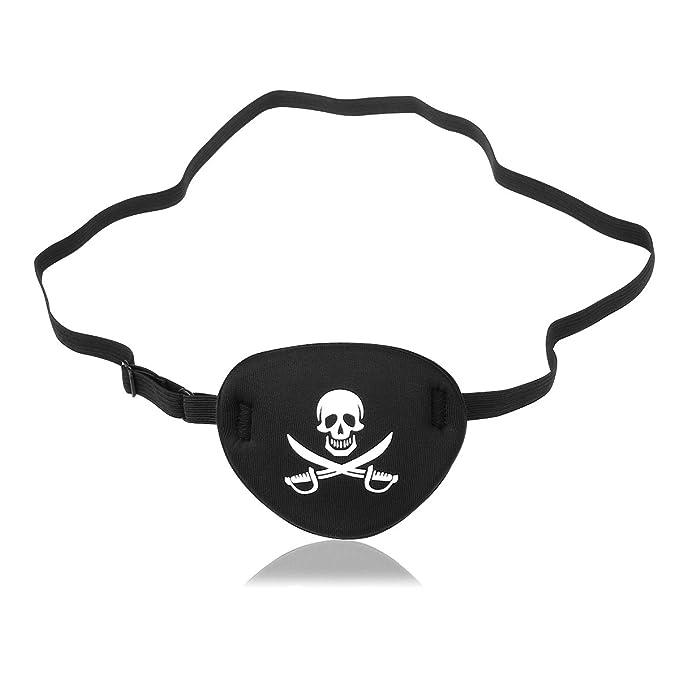 NUOLUX cráneo pirata Crossbone niños Eye Patch máscara de ojos para el ojo perezoso (negro): Amazon.es: Juguetes y juegos