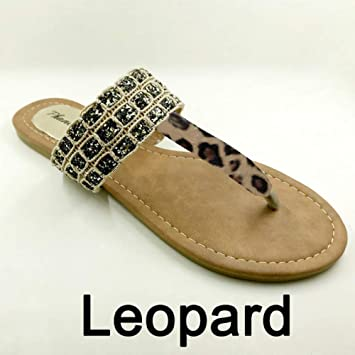 QIMITE Fascitis Plantar Estilo Veraniego Calzado Mujer Sandalias Moda Leopard Pisos sólidos Chanclas Zapatillas Sexy Plus Size 36-41: Amazon.es: Deportes y aire libre
