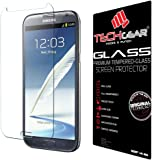 TECHGEAR Screen Protector for Galaxy Note 2 (N7100 / N7105) - GLASS Edition Genuine Tempered Glass Screen Protector Guard Cover Compatible with Samsung Galaxy Note 2