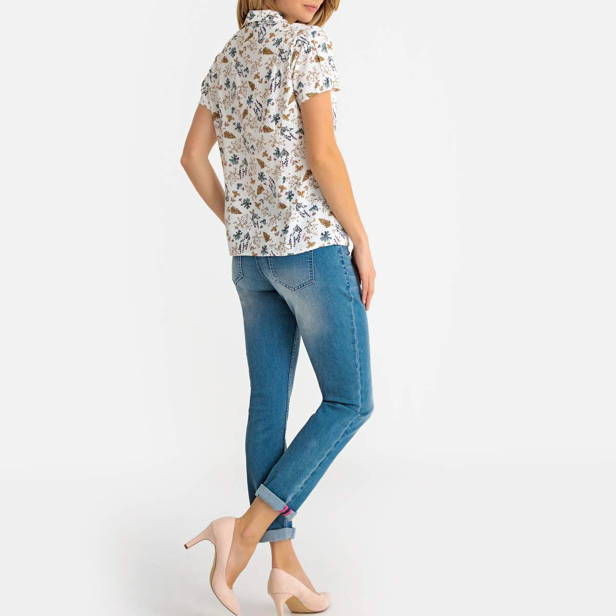La Redoute Womens Floral Print Short-Sleeved Blouse