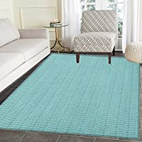 Teal Print Area rug Vintage Image Arrows of Many Colors Symmetrical Design Ethnic Themed Pattern Indoor/Outdoor Area Rug 4x5 Turquoise Gray White