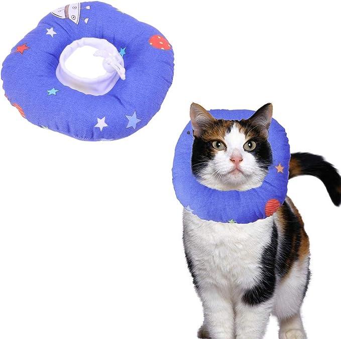 POPETPOP Conos de Recuperación para Mascotas, Collar Isabelino para Gatos, Collarines para Curar Heridas, 16-30cm (M, Caricatura de Univers)