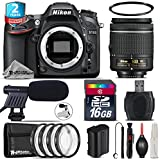 Holiday Saving Bundle for D7100 DSLR Camera + AF-P 18-55mm + 2yr Extended Warranty + 16GB Class 10 + + 1, + 2, + 4 & + 10 Macro Filter Kit + UV Filter + Cleaning Kit - International Version
