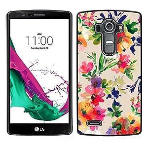 Caucho caso de Shell duro de la cubierta de accesorios de protección BY RAYDREAMMM - LG G4 - Arte Floral Flores vibrante