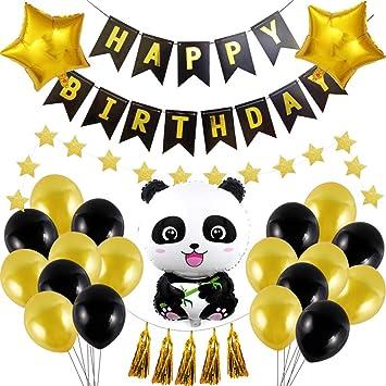 Toyvian Panda Globo Artículos Fiesta de cumpleaños : Globo ...