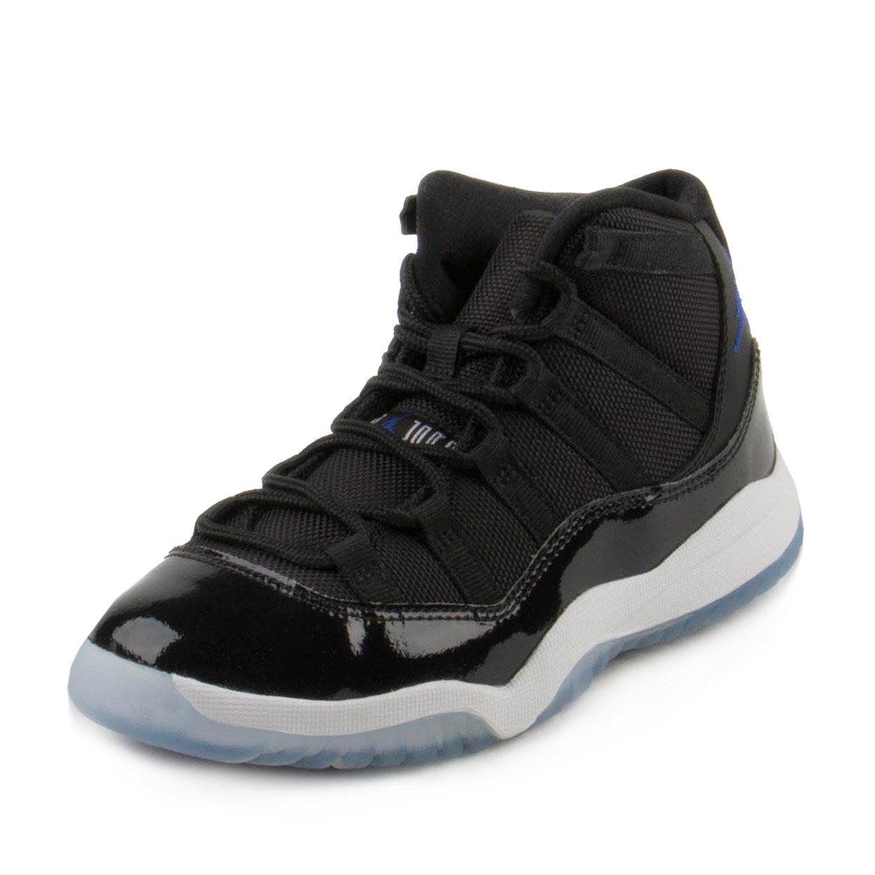 Nike Baby Boys Jordan 11 Retro BP ''Space Jam'' Black/Concord-White Leather Size 13.5C