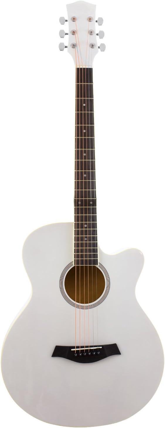 Guitarra electroacústica blanca para principiantes: Amazon.es ...
