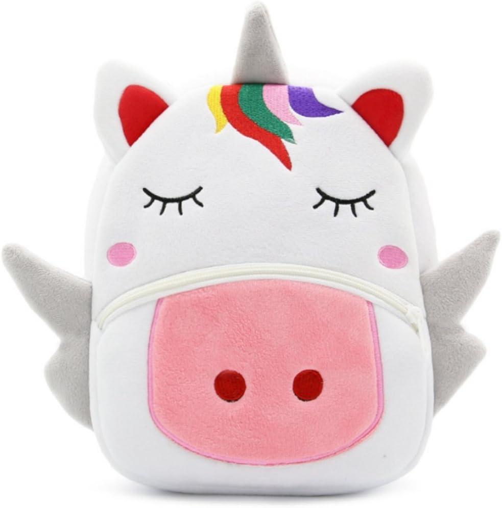 Zainetto per bambini  Bianco unicorno 26x24x10 cm JameStyle26