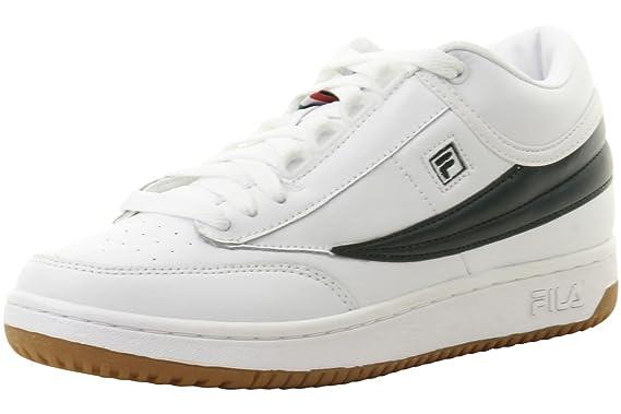 b8c257a3dce34 Amazon.com: Fila Men's T-1 Mid White/Sycamore/Gum Sneakers Shoes ...