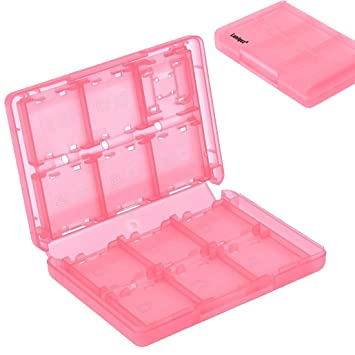 Generic 28-in-1 Game Cards Organizer Holder Case Box for Nintendo DSi DS Lite 3DS (Pink) by Luniquz