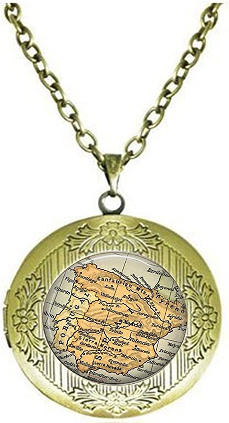 Colgante de España con diseño de mapa de España vintage – recuerdo ...