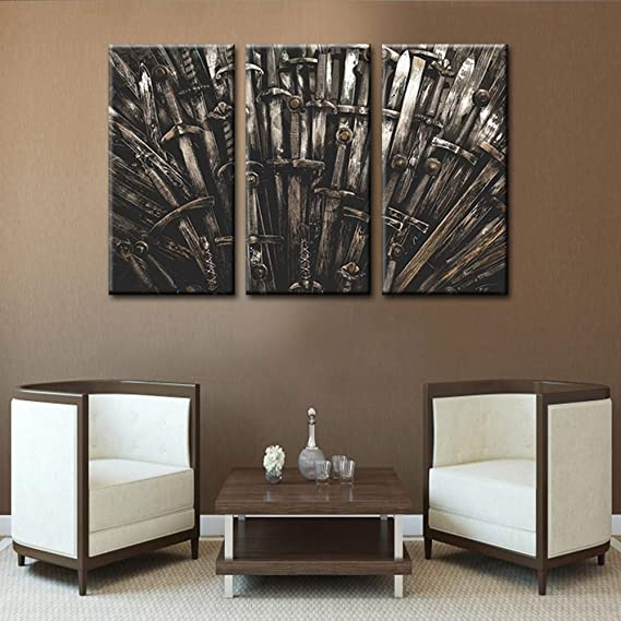 Poster Game of Thrones Print Fine Art Painting on wood panel-MDF Table