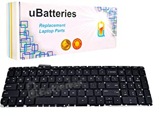 UBatteries Compatible Keyboard 720244-001 Replacement for HP Envy TouchSmart 15-j0xx 15T-j1xx 15Z-j0xx 15Z-j1xx 17-j00xx 17-j1xx Envy Touchsmart Quad 15 15T 17 17T Series