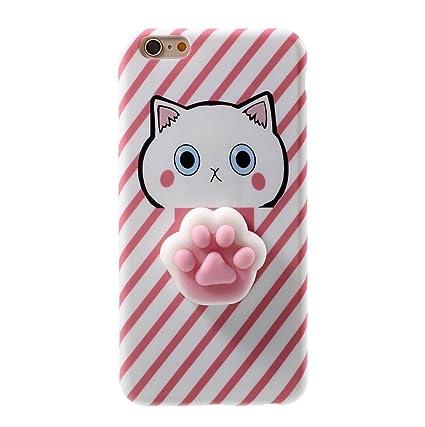 9df1efab00435f Iphone 6/6s Funny Case,Jesiya 3D Cute Soft Cartoon Sillicone Squishy Poke  Pink