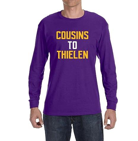 3256629b8 Tobin Clothing Purple Minnesota Cousins to Thielen Long Sleeve Shirt Adult  2XL