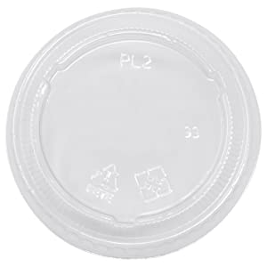 Simply Deliver Lid for 2 oz to 3 oz Soufflé Portion Cups, Clear PET, 2500-Count