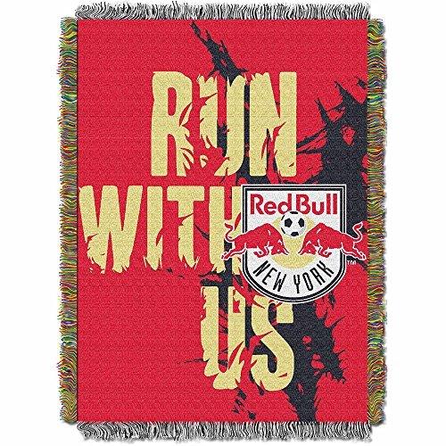 (MLS New York Red Bulls Handmade Woven Tapestry Throw, 48