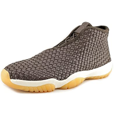 eb1c2847f697 Nike Mens Air Jordan Future Premium Dark Chocolate Sail-Gum Yellow Leather  Size 11
