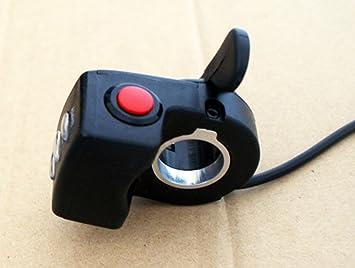 Amazon.com: 24 V/36 V/48 V e-bicycle Pulgar Grips manubrio ...