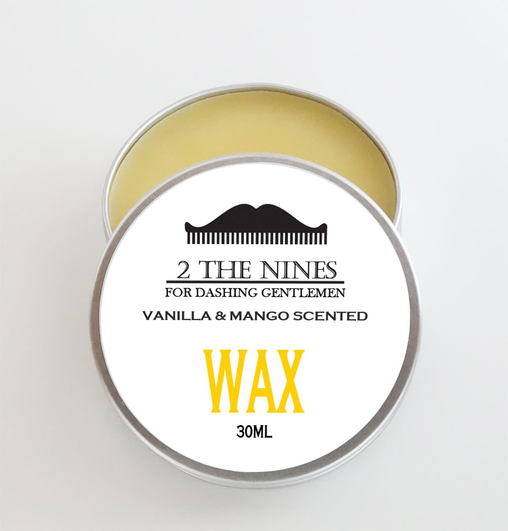 2 The Nines Premium Moustache Wax 4 x 30ml Gift Set Multipack Aluminium Tin - 4 Scents by 2 The NinesTM