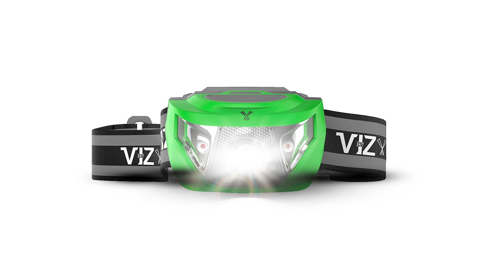 247 Viz LED Headlamp Flashlight - See the Road and Stay Safe - 3 Bright White & 2 Red Lights - Running, Hiking, Camping, Dog Walking and Night Safety for Kids - Lightweight & Waterproof