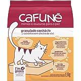 Areia para Gatos Cafuné Sem fragrância, Granulado Sanitário, Branco, 1.3kg, pequeno