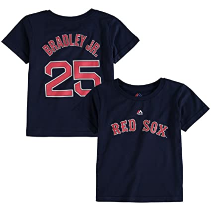 1bde5ca5f Majestic Jackie Bradley Jr. Toddler Boston Red Sox Navy Name and Number Jersey  T-