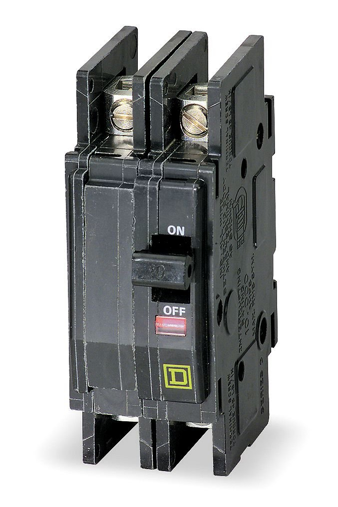 2P 100A QOU2100 SQUARE D BY SCHNEIDER ELECTRIC CIRCUIT BREAKER THERMAL MAG