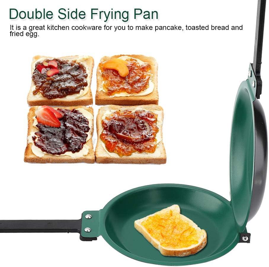 Padella a doppio lato antiaderente Facile da pulire Padella per pancake Padella antiaderente Frittata Padella Padella Antiaderente Padella pieghevole