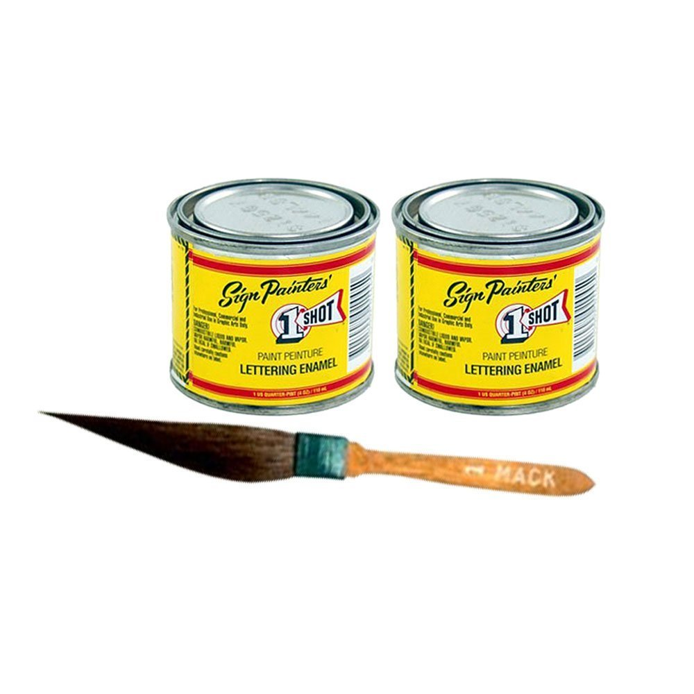One Shot Color Kit Sublime Green & Lemon Yellow With Pinstriping Touch-Up Brush
