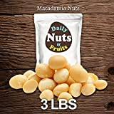 Just Macadamias SPECIAL 3 LBS BULK, RAW, HEALTHY, WHOLE, MACADAMIA NUTS