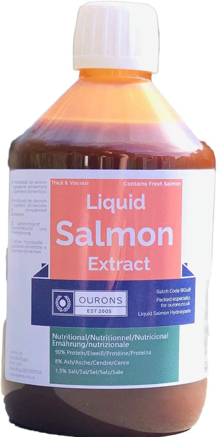 Ourons - Extracto de salmón puro de 500 ml hidrolisato ...