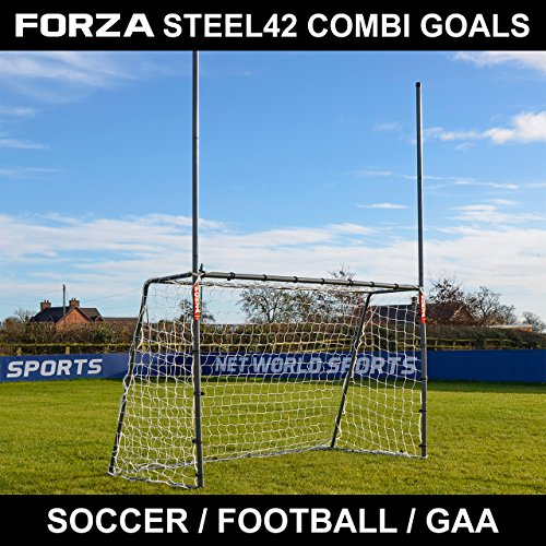 Net World Sports Forza 8 x 5 ft Steel42 Rugby/Soccer/Gaelic Football Goal - Great for Training Your Sports Stars of The Future from Net World Sports