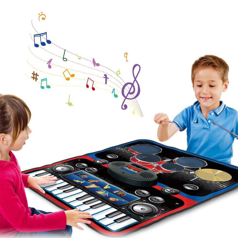 garyone-Game Dance mat Piano mat Music Keyboard Playmat Gift for Kids and Adult