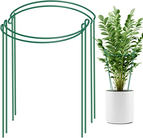 """7/"""" Wide x 11/"""" High, 8 PACK Peony SMALL Plant Support Hoops Trellis Rings"""