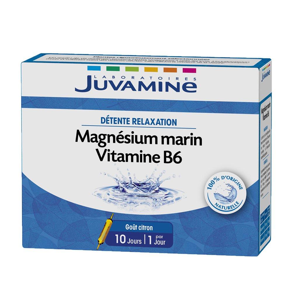 juvamine magnesio Marino vitamina B6 10 bombillas: Amazon.es: Salud y cuidado personal